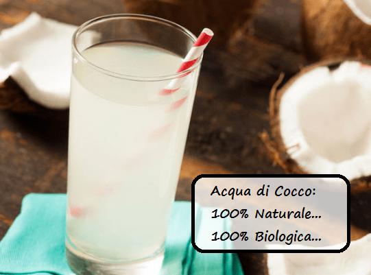 acqua di cocco naturale e biologica