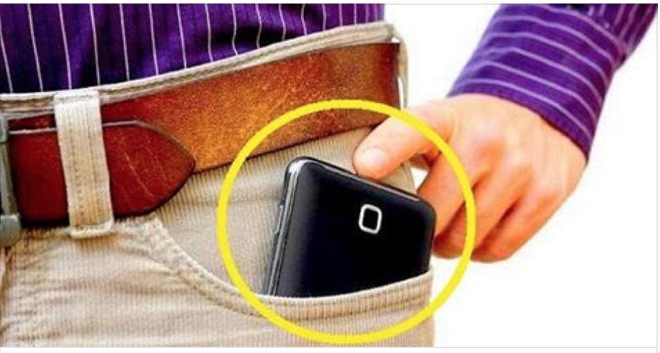 Cellulare nella tasca dei pantaloni : contribuisce alla sterilità